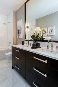 Abat Jour Salle De Bain : la salle de bain noir et blanc les derni res tendances ~ Melissatoandfro.com Idées de Décoration