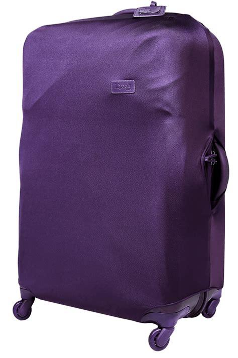 accessoires de voyage housse pour valise l violet lipault