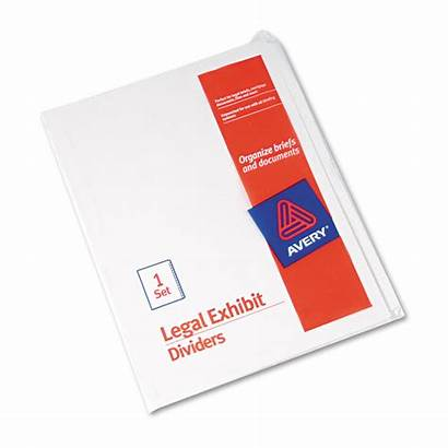 Tab Exhibit Legal Blank Letter Dividers Avery