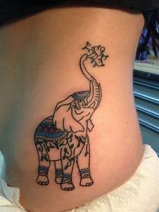37+ Elephant Tattoos On Side Rib