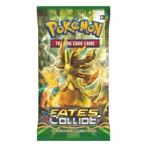 pokemon pokemon sealed booster pack 10 cards xy fates collide p