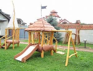 Fabriquer Un Toboggan : toboggan bebe bois les cabanes de jardin abri de jardin ~ Mglfilm.com Idées de Décoration