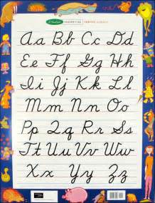 Printable Cursive Letter Chart