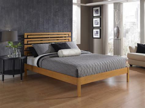 Furniture. Wooden Walnut Flat Full Size Platform Bed Frame