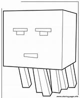 Minecraft Coloring Pages Ghast Craft Scribblefun Printable Mine Cartoon Mobs Drawing Nether Silverfish Ghasts sketch template