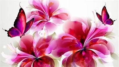 Butterfly Purple Pink Butterflies Flowers Animated Wallpapers