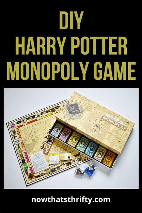 diy harry potter monopoly game   printables diy