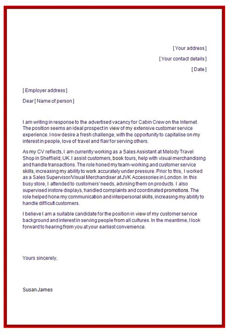 Flight Attendant Cover Letter No Experience by Cover Letter For Flight Attendant Resume Template In