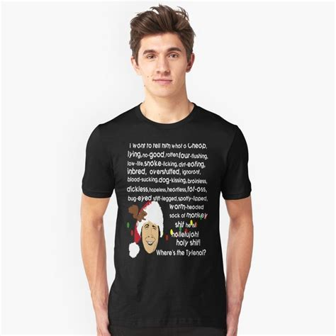 Griswold his true spirit towards everything in life. Clark Griswold Rant by MephobiaDesigns | Redbubble in 2020 | Clark griswold, Mens tshirts, Griswold