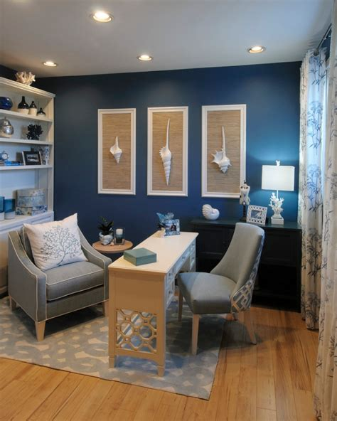 21+ Blue Home Office Designs, Decorating Ideas | Design ...