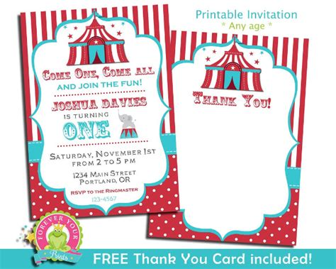 carnival birthday invitations  psd vector eps