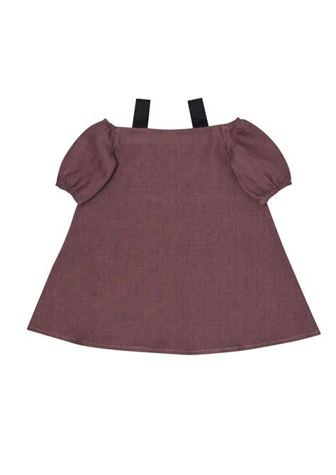 Meitas vasaras lina kleita, tumši violeta   HEBE