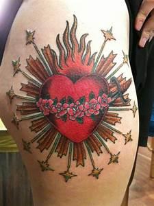 Rose Hip Designs Andrea Furci Tattoos Sacred Heart