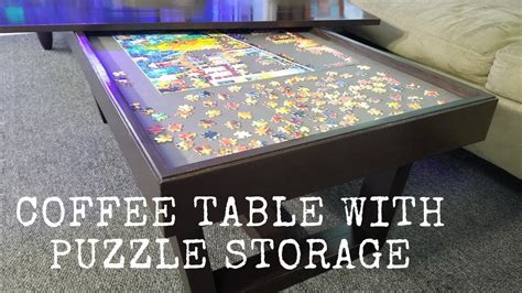 coffee table  puzzle storage youtube