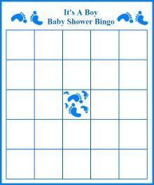 footprint boy baby shower bingo templates baby shower