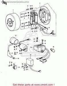 Kawasaki Ke175-b2 Ke175 1977 Usa Canada    Mph Kph Ignition  Generator  Regulator