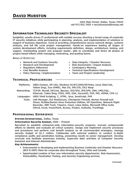 Objective For Information Technology Resume by Information Technology It Sle Resume Candidate