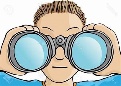 Binoculars Clipart Drawing Clip Binocular Graphics Child
