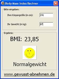 Normalgewicht Berechnen : bmi rechner 1 1 bei freeware ~ Themetempest.com Abrechnung