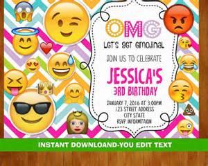 Emoji Free Printable Birthday Invitations