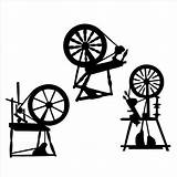 Spinning Silhouette Spindle Knitting Wheels Wheel Svg Die Yarn Bags Drop Cuts Stencil Disney Vinyl  Spin Pottery Bag Fairy sketch template