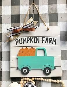Pumpkin, Farm, Fall, Wood, Sign, Farmhouse, Truck, Farmhouse, Sign