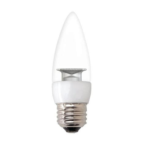 ge 60w equivalent daylight b11 blunt tip clear medium base