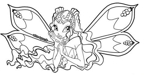 Winx Club Coloring Pages Aisha Enchantix