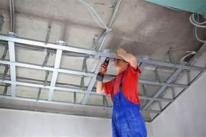 Installer Faux Plafond : prix et pose de placo au plafond constructeur travaux ~ Melissatoandfro.com Idées de Décoration