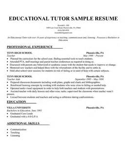 free resume writing tutorial educational tutor resume sle resumecompanion resume sles across all industries