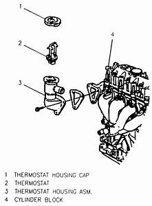 Diagram Of The Thermostat Loacation For 2003 Cavalier