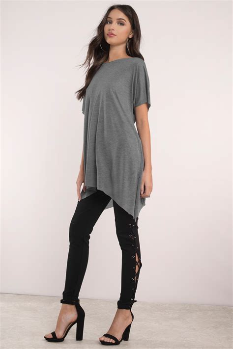 Boat Neck Tunic Tops by Black Top Boat Neck Top Black Top Black