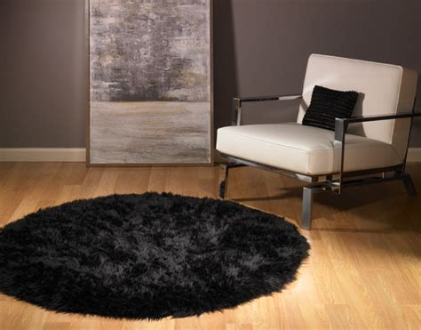 big fur rug black faux fur rug 5 new ebay