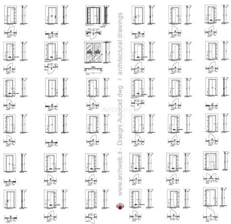 Porte D Ingresso Dwg by Porte In Prospetto Dwg Abaco Porte Dwg