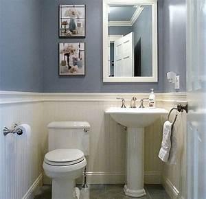 Bathroom Design , How to make narrow half bathroom seem ...