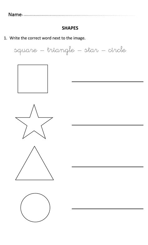 Writing Shapes for 5 and 6 years olds. #WritingShapes