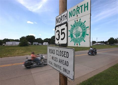 On Wisconsin River Road Closure Tough On Travel And. Mental Breakdown Signs Of Stroke. Heatwave Signs. Square Root Signs Of Stroke. Saves Signs. Hotel French Signs. Canna Pet Signs. Gas Station Signs. Exit Sign Signs