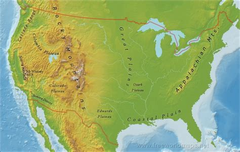 cascade mountain range map outline