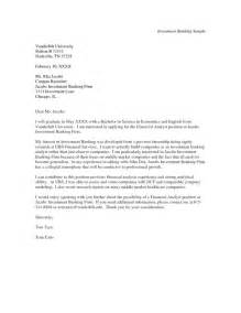 Opening Paragraph For Resume Exles by Cover Letter Investment Banking Cover Letter Sle A