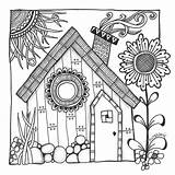 Cottage Coloring Pages Printable Getcolorings Harry sketch template