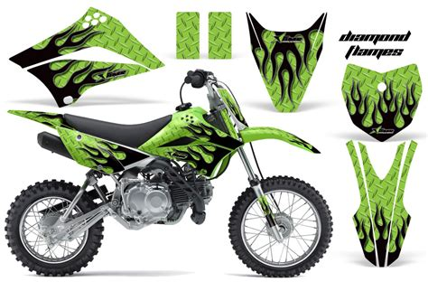 kawasaki klx 110l graphic kit amr racing plates decal