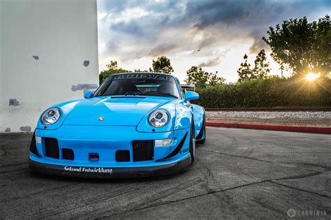 Classic Car Wallpaper 1600 X 900 Cool Pics For Wallpaper by Riviera Blue Porsche Rwb 911 Cars For Sale