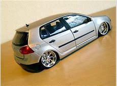 Tuning Modellauto VW Golf Silber 118 auf Tuningmodellede