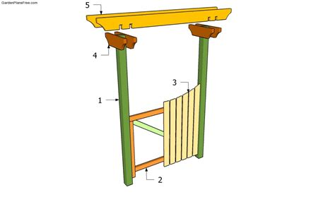 woodwork how to make a garden gate plans pdf plans