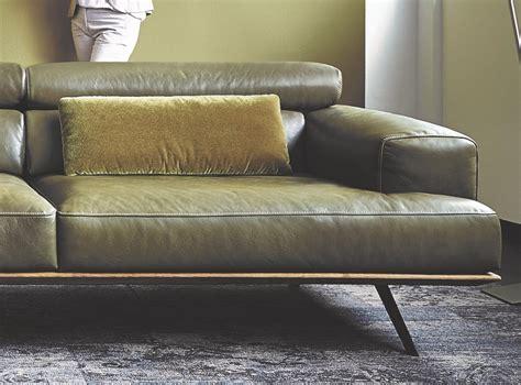 canape assise large canapé angle design contemporain cuir et bois temperant pm