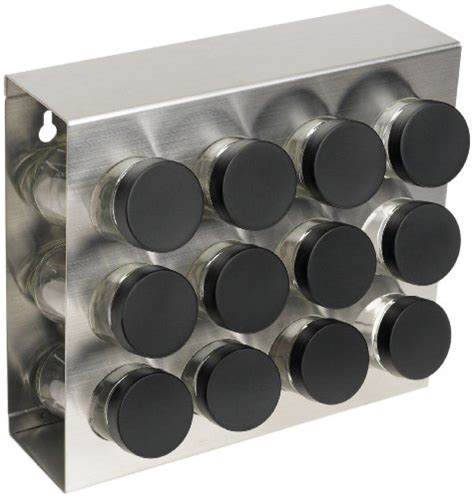 Stainless Steel Wall Spice Rack by Prodyne M 912 Stainless Steel Spice Rack 12 Bottle New Ebay