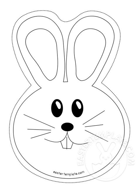 easter bunny template archivi easter template