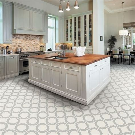 white tile kitchen floor kitchen flooring options tile ideas with white cabinets 1475