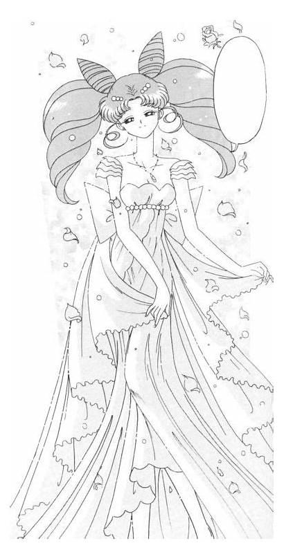 Sailor Moon Princess Serenity Fan Coloring Serena