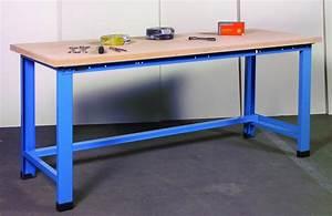 Etabli D Atelier : etabli 1200 kg plateau h tre 1500 mm pieds fixes manuest ~ Edinachiropracticcenter.com Idées de Décoration